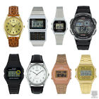 CASIO CLASSIC & RETRO DIGITAL WATCH IN SILVER, BLACK, GOLD FOR MEN & LADIES