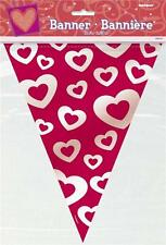 HEART BANNER FLAGS PARTY DECORATION ANNIVERSARY ENGAGEMENT VALENTINES BIRTHDAY