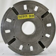 """14"""" Lathe Face Plate D1-8 Spindle Mount 2-5/8"""" Thickness"""