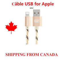 6 feet Braided Micro USB Data câble chargeur Gold for Apple iphone 6 6s 7 A020
