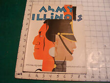 Vintage Program: ARMY vs ILLINOIS Oct 21, 1933, VERY NICE, Foster art cover