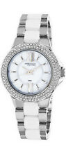 Anne Klein Womens Pearl Dial White Ceramic and Metal Bracelet Watch 12/2141