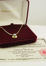 Jackie Kennedy Faux Pearl Pendant Necklace(w/original box/certificate) GRAY