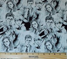 HARRY POTTER FABRIC!  BY THE HALF YARD! RON WEASLEY~HERMIONE GRANGER! WAND~ROBE!