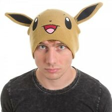 OFFICIAL POKEMON EEVEE BIG FACE WITH EARS BEANIE HAT *BRAND NEW*