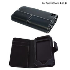 PU Pelle megnatic chiusura lato aperto Pouch Case Cover per Apple iPhone 4 / 4G / 4S