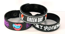FALLING IN REVERSE MY CHEMICAL ROMANCE GREEN DAY 3pcs Bracelet Wristband 3FR100