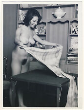 """NUDE WOMAN AT HOME / NACKTE FRAU ZU HAUSE * Likely a 60s SERGE JACQUES Photo """"L"""""""