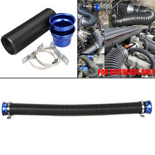"76mm 3"" Universal Flexible Air Intake Pipe With Stainless Steel Mounting Clamp"