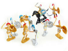 Plastic Toy Soldiers Roman Infantry Trojans  Knights Painted Figures 12 Pcs 1/32