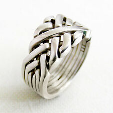 (SIXTH SENSE) Unique Puzzle Rings by PuzzleRingMaker - 925 Silver - Any Size