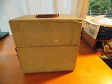 "45 RPM  record carrying/storage case 8"" solid wood"