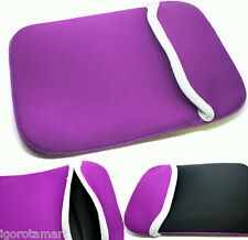 "Purple 17 17.3"" inch Laptop Sleeve Case Bag For HP DELL Toshiba Samsung Apple PC"
