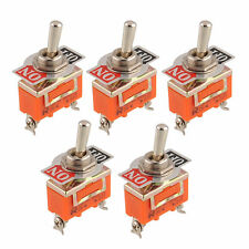 5X 2Pin 15A 250V car auto Dash Toggle Switch Flick SPST ON/OFF Master