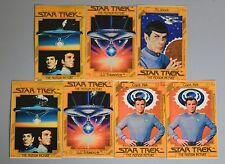 1979 STAR TREK MOTION PICTURE DECAL STICKER LOT 7 CAPTAIN KIRK SPOCK GUM BALL