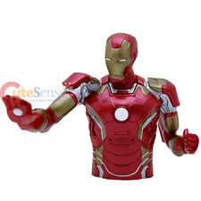"Marvel Avengers 2 Iron Man Bust Figure Coin Bank  8"" Figuren Piggy Bank"