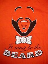 It Must Be The Beard Lovers Daily Thunder Tree And Leaf Clothing Red T Shirt M
