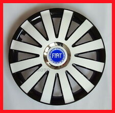 "4x14"" Hup caps Wheel trims Wheel cover for Fiat 500 Punto Panda14'' back - white"