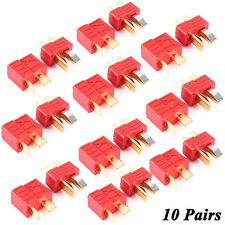 10 Pairs Deans Ultra T-Style Connector Plug Female Male Fr RC LiPo Battery Motor