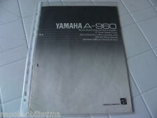 Yamaha A-960 Owner's Manual  Operating Instruction   New