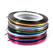30 Mixed Colours Rolls Striping Tape Line Nail Art Tips Decoration Stickers DIY