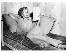 MARILYN MONROE relaxing on couch still - (a425)