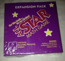 Educational Game All Star Math Game Expansion Pack Fractions Decimals Sealed