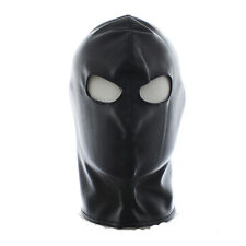 Quality PU Leather Gimp Eyes Open Mask Hood Fetish Fancy dress clubwear roleplay