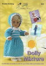 VAT Free 13 Doll Fashion Outfit KNITTING PATTERNS ONLY Teddy Book Dolly Mixtures