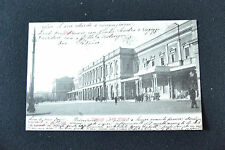 CARTOLINA ROMA STAZIONE TRENO RARA VIAGGIATA 1903 SUBALPINA ZZ