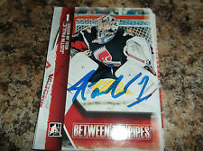 2013-14 IN THE GAME # 58 JUSTIN PAULIC MOOSE JAW WARRIORS AUTOGRAPHED CARD
