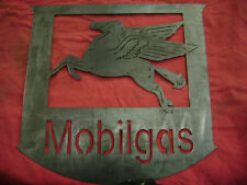 Mobil Mobilgas Metal Plasma cut Sign