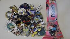 Disney Trading Pins_Starter Set_ 10 PIN LOT _FROZEN LANYARD_Pink