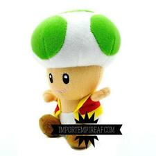 SUPER MARIO BROS. TOAD VERDE PELUCHE plush  fungo kart mushroom party green vert