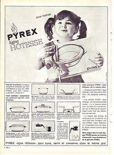PUBLICITE ADVERTISING 034 1963 PYREX ligne Hôtesse pour maman