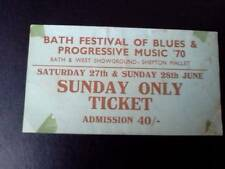 Led Zeppelin ticket  Frank Zappa Santana Bath Festival Sunday 28/06/70
