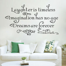 DIY Tinkerbell Dreams Are Forever Quote Vinyl Wall Art Decal Sticker Home Decor