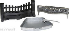 Cast Iron Fret Set Fire Grate with Ash Pan Dog Grate Fireplace Fire Basket