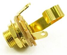 """SWITCHCRAFT #11 MONO 1/4"""" TOTAL GOLD PLATED JACK Guitar Bass NEW FREE SHIPPING"""
