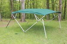 NEW VORTEX SQUARE TUBE FRAME 4 BOW PONTOON/DECK BOAT BIMINI TOP 8' GREEN 91-96""
