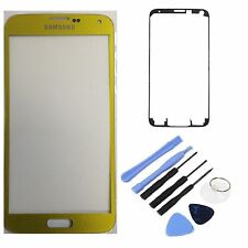 Gold Replacement Front Screen Glass Lens for Samsung Galaxy SM-G900 S5 SV i9600