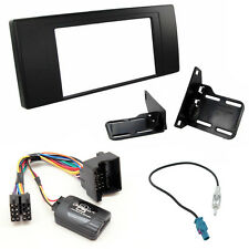 BMW X5 Double Din Facia Panel & Steering Wheel Interface Car Stereo Fitting Kit
