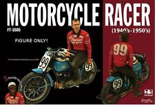 1/35 Scale Motorcycle racer 1940's - resin model kit