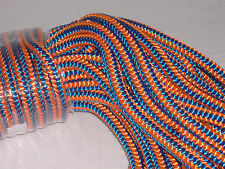 Arborist 12 strand polyester climbing rope 1/2x100 feet blue orange hi vis tree