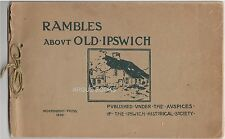 1898 ARTHUR WESLEY DOW WOOD BLOCK PRINT COVER DESIGN RAMBLES ABOUT OLD IPSWICH