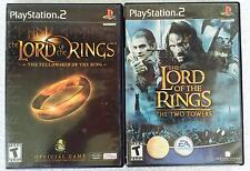 LORD OF THE RINGS THE TWO TOWERS and FELLOWSHIP OF THE RING  Sony PlayStation 2