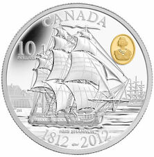 2012 Canada HMS Shannon $10 Mint in Box With COA