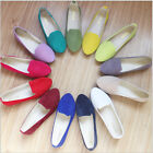New Fashion Womens Boat Shoes Casual Ballet Slip On Flats Loafers Single Shoes
