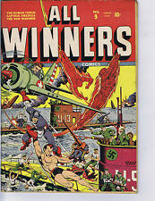 All Winners Comics #9 Timely 1943 GREAT COVER!