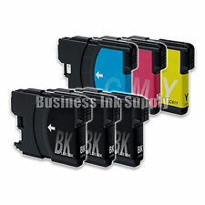 6 Pack NEW LC61 Ink Cartridges for brother printer LC61BK LC61C LC61M LC61Y LC61